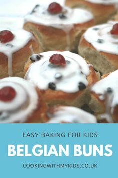 Belgian buns recipe (homemade) | Cooking with my kids Easy Baking For Kids, Baking With Toddlers, Bake Sale Recipes, Baking Recipes, Bread Recipes, Belgian Bun, Savoury Baking, Bread Baking, Homemade Buns