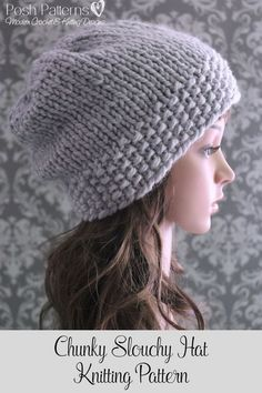 Knitting Pattern - An elegant and cozy knit beanie pattern that features a  textured band and b02a05cd1cfb