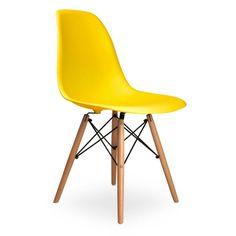 555.00$  Buy here - http://alij0r.worldwells.pw/go.php?t=32568178004 - 6 pieces for a lot PP Plastic Dining Room Chairs Beech Wood Legs Casual Chairs Color Yellow 555.00$