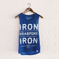 Iron Sharpens Iron. / DIY Gold Sequin Hanger!