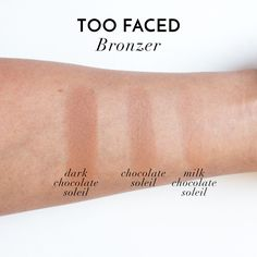 Too Faced The Little Black Book of Bronzers - Matte Swatches ...
