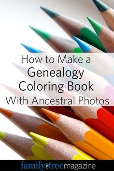 How to Make Your Own Ancestor Coloring Book Step by Step - Family Tree Magazine
