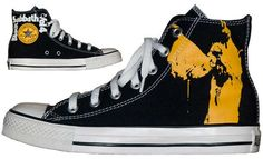 100 Eclectic Converse Sneakers - From Tropical Classic Sneakers to Berry Covered Sneakers (TOPLIST) Converse Design, Cool Converse, Converse Sneakers, Classic Sneakers, High Top Sneakers, Music Shoes, Rock Outfits, Shoe Company, Black Sabbath