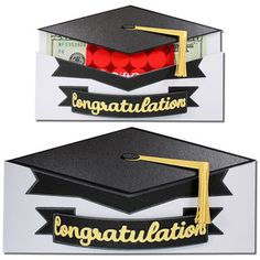Graduation Hat Pocket Gift Card-JMRush Approximate Size: W X H This design has a sliding compartment that is sized . Silhouette Projects, Silhouette Design, Silhouette Studio, Silhouette Cameo, Graduation Cookies, Graduation Cards, Money Holders, Silhouette America, Gift Bags