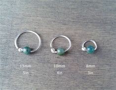 Small cartilage hoop silver daith earring by HarshandSweet on Etsy Daith Earrings, Etsy Earrings, Small Jewelry Box, Jewelry Ideas, Conch Jewelry, Cartilage Hoop, Aromatherapy Jewelry, Bespoke Jewellery, Moss Agate