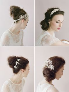 @Amanda Whittemore Some options for you besides flowers, or we can add most of these to the veil depending on what style you choose.