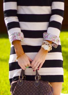 bold stripes and floral