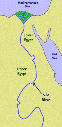 Facts About The River Nile For Kids Ancient Egypt Pinterest - Map of egypt for primary school