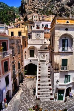 the town of Atrani in the Amalfi Coast. Cute and intriguing. This town has a bumpy and rich history