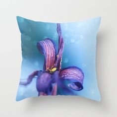 Buy withered lily in blue by Christine baessler as a high quality Throw Pillow. Worldwide shipping available at Society6.com. Just one of millions of products available.