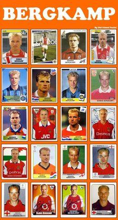 Old School Panini Football Squads, God Of Football, Football Awards, Football Icon, Arsenal Football, World Football, Football Gif, Dennis Bergkamp, Arsenal Players
