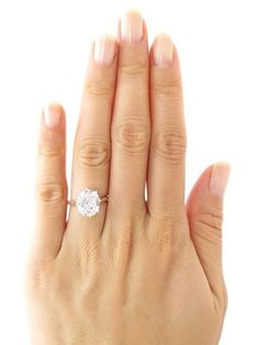 This is stunning  prefer slightly more oval - but this in moissanite is stunning