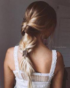 Ulyana Aster Long Bridal Hairstyles for Wedding_17 ❤ See More: http://www.deerpearlflowers.com/long-wedding-hairstyleswe-absolutely-adore/
