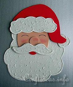Christmas Crafts for Kids - Tree Ornaments - Fun Foam Santa Claus
