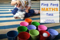Practice maths skills and hand to eye co-ordination with this fun maths game for children. Math Games For Kids, Fun Activities To Do, 1st Grade Math, Math Skills, Little Ones, Maths, Children, Counting, Eye