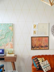 I am so IN LOVE with today's project I want to lick my wall.  Remember last week when we chatted about overcoming a major project/idea fail?  This post is what I like to call redemption.  Or DIY Custom Wallpaper…without theRead More