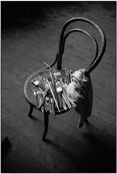 Balthus: Studio of the French painter Balthus, La Rossiniere, Vaud canton, Switzerland.