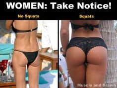Entire Body Workout (almost). There is arguably no other exercise that works more muscles than the squat. If you were only to do one exercise for the rest of your life, the squat would make an excellent choice. Fitness Workouts, Fitness Tips, Health Fitness, Squats Fitness, Fitness Quotes, Butt Workouts, Paleo Fitness, Fitness Gadgets, Workout Routines