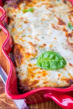 White Chicken Lasagna with Pesto on iheartnaptime.com