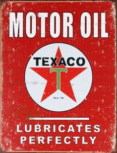 Plaque métal Texaco #decoration #retro #plaque