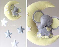 Bebé móvil elefante elefante-móvil de bebé neutral móvil