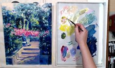 Work in progress... painting a figure in landscape (my mother posed for this one) with Golden Open acrylics. Inspired by my recent visit to Bayou Bend Gardens where azaleas are in full bloom. Full video is coming out on Wednesday on #tummyrubbstudio 's YouTube channel if you are interested in the full garden visit report and in the painting process. #azaleasinbloom #goldenopenacrylics #landscapepainting #bayoubendgardens Figure Sketching, Painting Process, Acrylics, Landscape Paintings, Wednesday, Channel, Bloom, Gardens, Inspired