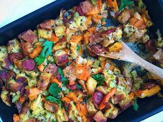 This stuffing gets a sweet and spicy boost from Andouille sausage and butternut squash. Get the recipe from Delish.