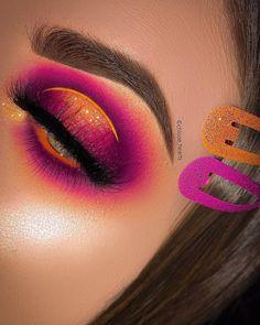 on EYES - Venus XL Palette limecrimemakeup Orange base plouise_makeup_academy Beautiful Sunset Palette bellanoiacollection Planet Makeup Eye Looks, Dramatic Eye Makeup, Creative Makeup Looks, Eye Makeup Steps, Eye Makeup Art, Colorful Eye Makeup, Natural Eye Makeup, Smokey Eye Makeup, Makeup Inspo