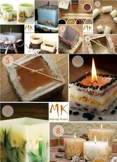 Home made decorative candles
