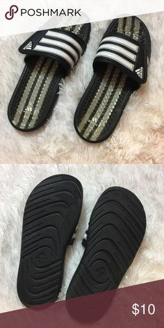 4b0f7b779eb42f Adidas slides great condition slightly used women s size 10 men s size 8 adidas  Shoes Sandals