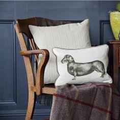 voyage daschund dog cushion maison