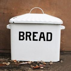 Keep your bread fresh with this vintage-inspired bread box. Not only will the enameled metal keep your bread safe from an unpredictable world full of heavy objects, it will remind you of the good old days of your great grandmother.