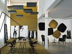 Acoustic ceiling clouds CUBE CAS Collection by Carpet Concept | design Carsten Gollnick