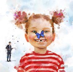 Lisa, Cute Little Drawings, Art Journal Inspiration, Children's Book Illustration, Drawing For Kids, Cool Art, Fun Art, Watercolor Art, Images