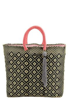 Stella Woven Plastic Tote by Boutique Mexico. Handwoven by artisans in Oaxaca, Mexico