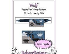 Bead Pattern Peyote(Pen Wrap/Cover)-Wolf