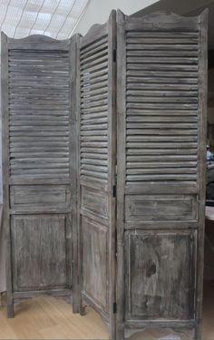 Rustic Wooden Screen, Room Divider - Three Panels
