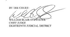 William Blair Sylvester  Chief Judge  Eighteenth Judicial District
