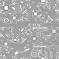 Vector Art : Circuit Board Vector - Seamless Tile