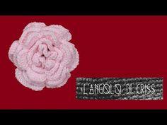 Rosa irlandese all'uncinetto - crochet irish rose - rosa irlandesa en cr...