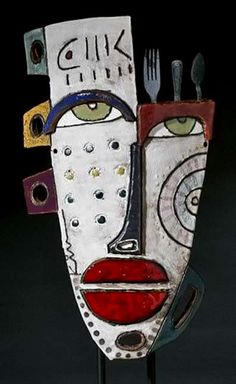 kimmy-cantrell abstract cubist mask