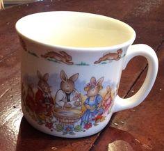 """Royal Doulton Bunnykins """"Celebrate Your Christening"""" Fine Bone China Mug England #RoyalDoulton"""