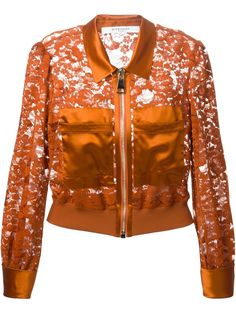 Givenchy Floral Lace Harrington Jacket - Elite - Farfetch.com