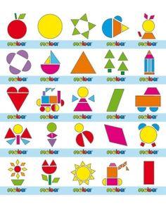 Geometrické tvary s jablkom Montessori, Kindergarten, Geometric Fashion, Shapes, Geometry, Kindergartens, Preschool, Preschools, Pre K