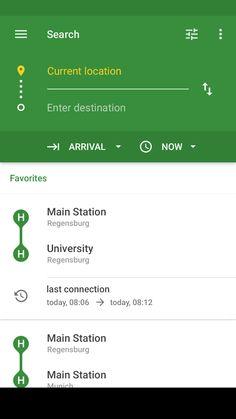 Signa Android UI Design Community — A public transport application (Öffi) redesign mockup by Johannes Homeier