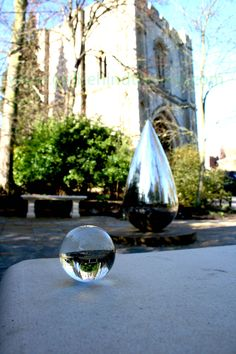 Bury St Edmunds, Abbey Gardens working with reflective surfaces.
