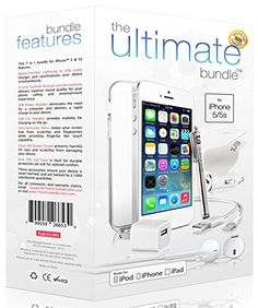 ★ The Ultimate Bundle for iPhone 6 ★ – 7 in 1 Accessory Kit – White – MFI Apple-Certified – Gift Packaging Includes: Apple Certified Lightning Cable, Wall Charger, Car Charger, Earbuds Headset with Remote and Mic, Clear HD Screen Protector w/ Cle Cell Phone Contract, Apple Mobile Phones, Screen Guard, Unlocked Phones, Iphone Accessories, Apple Products, Lightning, Iphone 6, Kit