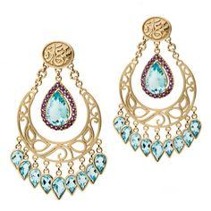 Azza Fahmy Wonders of Nature blue topaz chandelier earrings in gold. http://www.thejewelleryeditor.com/jewellery/article/azza-fahmy-wonders-of-nature-jewellery-collection/ #jewelry