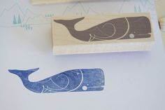 INK+WIT Whale Stamp