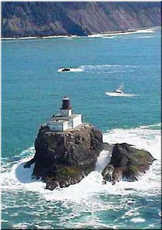Tillamook Rock Light, Cannon Beach,  is a de-activated LH on the OR Coast. It is located 1.2-mi offshore from Tillamook Head, and 20-mi south of the Columbia River
